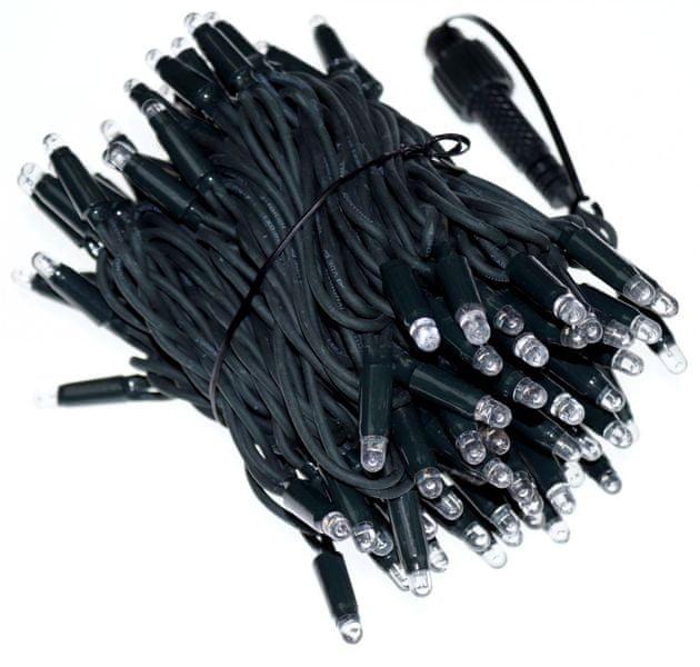 Seizis Řetěz 100LED - 10m, teplá svítící, černý kabel