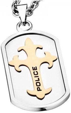Police Pánsky náhrdelník s krížikom Gatekeeper PJ25570PSRG / 02