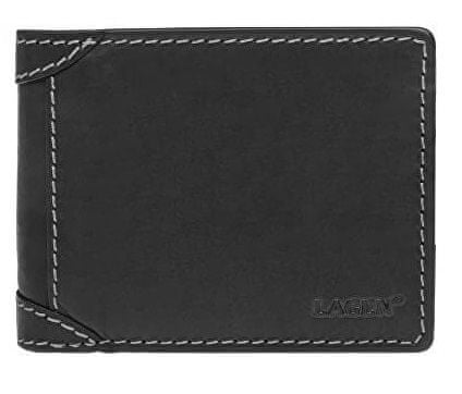 Lagen Pánska kožená peňaženka 511461 BLK