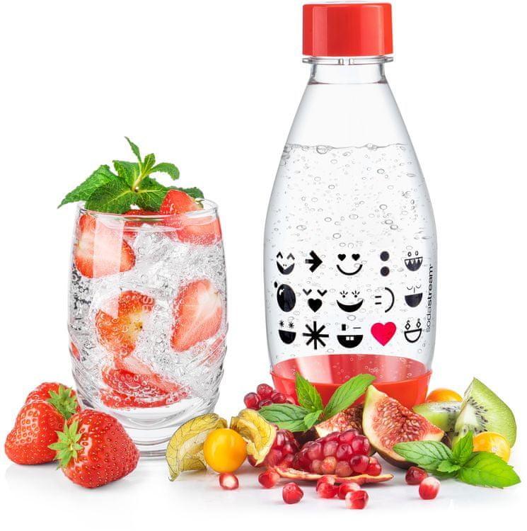 SodaStream Lahev dětská 0.5l Smajlík červená - rozbaleno