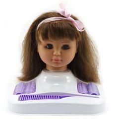 Teddies glava lutke za česanje v setu, rjavolaska
