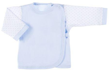 Ewa Klucze chlapčenské zavinovacie tričko  Newborn 50 svetlomnodrá