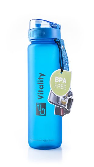 G21 butelka na napój 1000 ml niebieska matowa