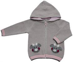 EKO dekliški pulover s črtami
