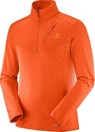 Salomon moška majica z ovratnikom Discovery Hz, M, oranžna