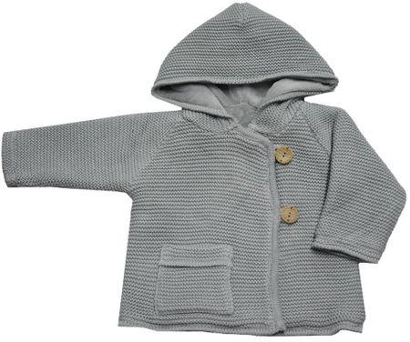 EKO dziewczęcy sweter na guziki 86 szary