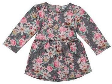 Dirkje dekliška oblekica s cvetličnim vzorcem, 86, siva