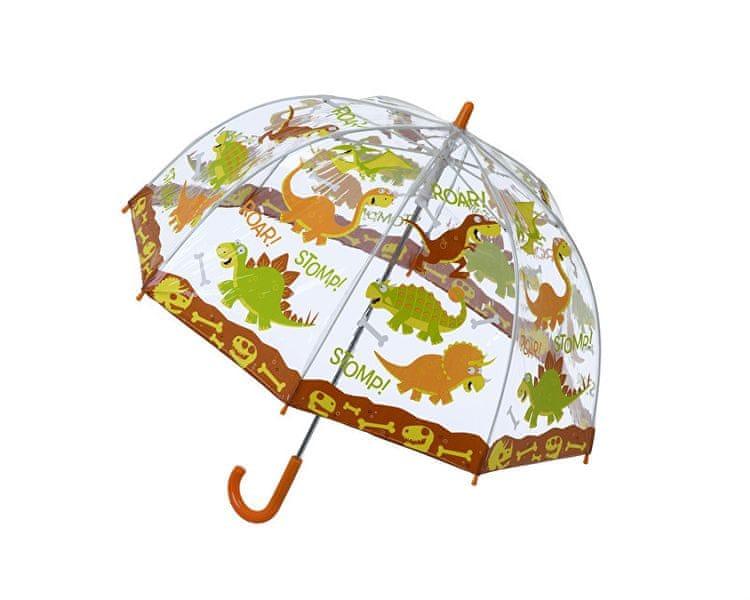 Blooming Brollies Dětský průhledný holový deštník Dinosaur Umberlla SBUDIN