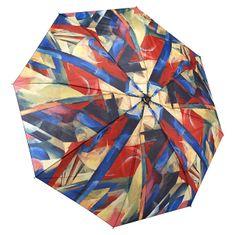 Blooming Brollies Dámský plně automatický deštník Franz Marc Stables Folding Style GAFMST
