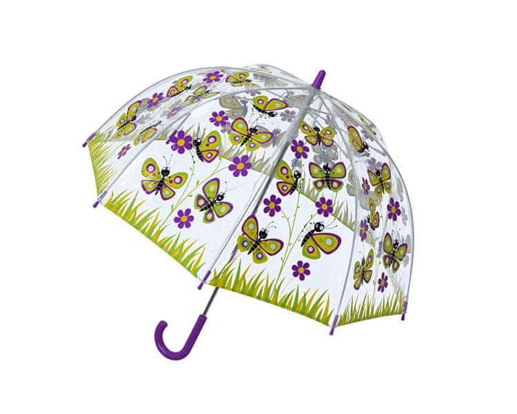 Blooming Brollies Dětský průhledný holový deštník Butterfly Umbrella SBUBY