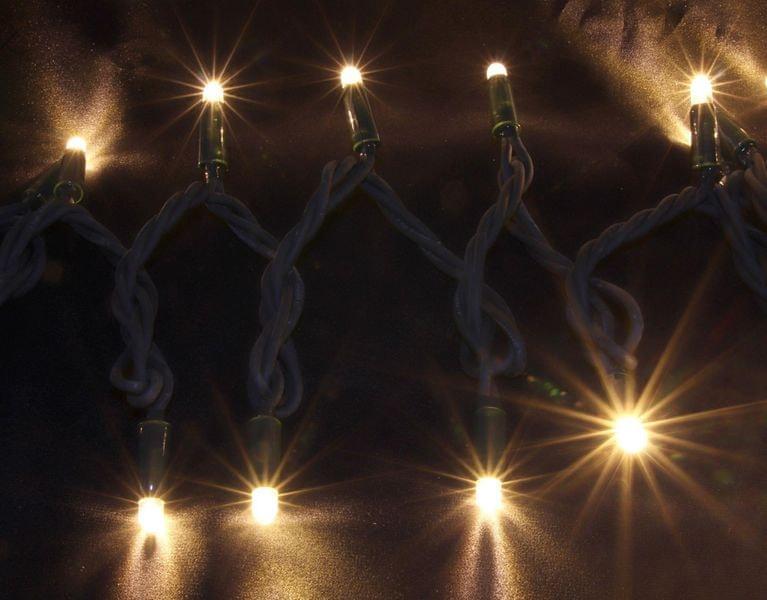 Seizis Řetěz 50LED - 5m, teplá svítící, černý kabel