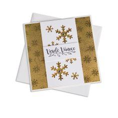 Giftisimo Ruční vánoční přání – zlaté vločky