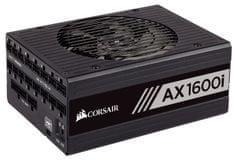 Corsair modularni digitalni napajalnik AX1600i, 1600 W, 80 PLUS Titanium