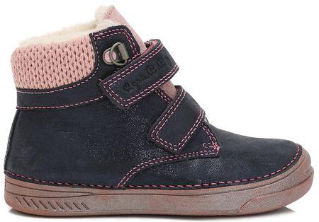 D-D-step dívčí kotníkové boty 36 modrá  6d7d16675d
