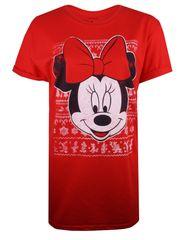 Christmas T-shirt ženska majica kratkih rukava Minnie Intarsia