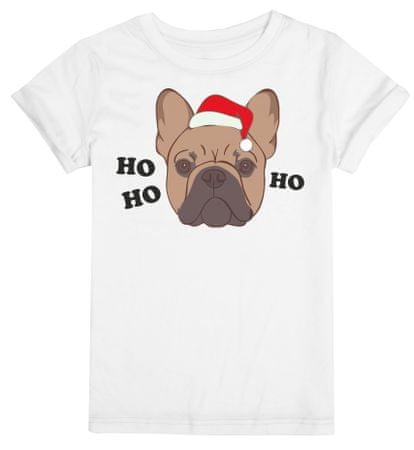 Christmas T-shirt T-shirt damski Christmas Frenchie S biały