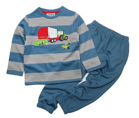 Gelati fantovski komplet z motivom traktorja, 92, moder