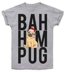 Christmas T-shirt ženska majica Bah hum pug