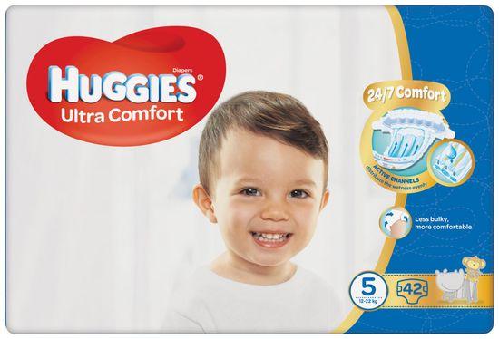 Huggies Ultra Comfort 5 Jumbo plenice (12–22 kg), 42 kosov