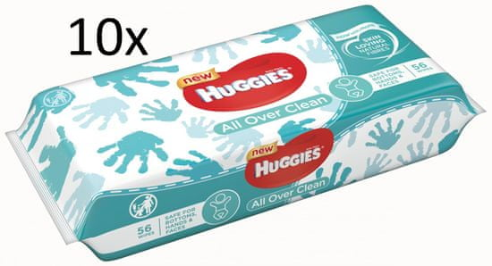 Huggies Wipes All Over Clean - 10x 56 ks