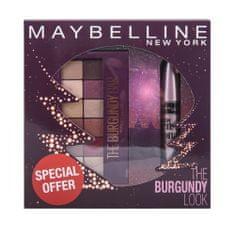 Maybelline set paleta sjenila Burgundy Bar i maskara Lash Sensational