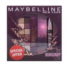 Maybelline set paleta senčil Burgundy Bar in maskara Lash Sensational
