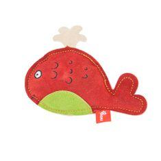Akinu hračka veľryba PREMIUM koža červená