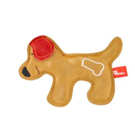 Akinu hračka psík PREMIUM kůže hnědý