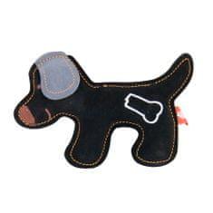 Akinu igračka za pse PREMIUM pas, koža, crna