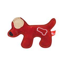 Akinu igrača za pse PREMIUM pes, usnje, rdeča
