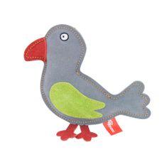 Akinu hračka vtáčik PREMIUM koža sivá