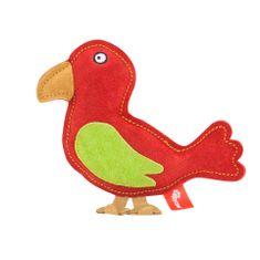 Akinu PREMIUM madár alakú kutyajáték piros bőrből