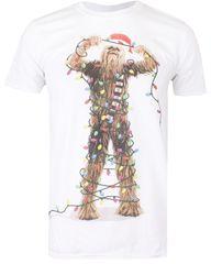 Christmas T-shirt fantovska majica Chewbacca Lights