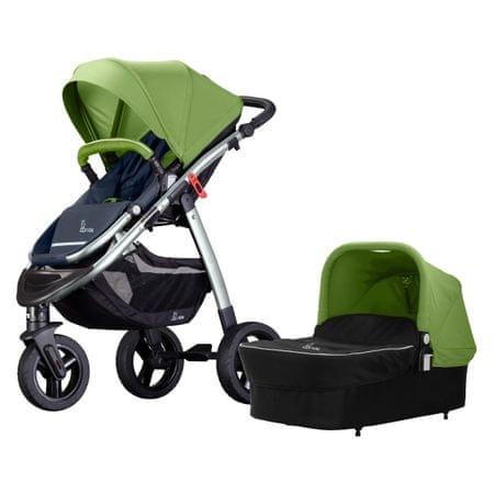 BC Ride otroški voziček 2v1 R3, sivo zelen