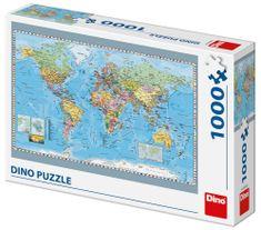 Dino Politická mapa světa 1000 dílků