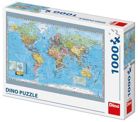 Dino sestavljanka Zemljevid sveta, 1000 delov
