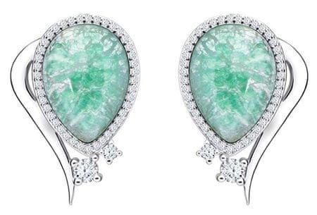Preciosa Ines Matrix türkiz színű elegáns fülbevaló 6111 24 ezüst 925/1000