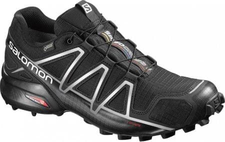 Salomon moški tekaški čevlji Speedcross 4 Gtx® Black/Black/Silver Metallic-X, 42.7
