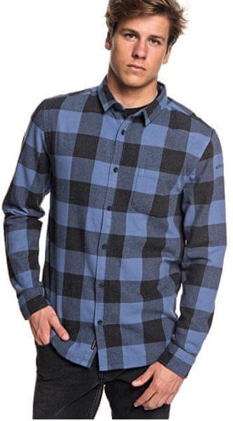Quiksilver Pánská košile Motherfly Flannel Bijou Blue Motherfly Check EQYWT03728-BNG1 (Velikost M)