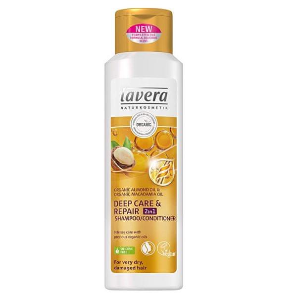 Lavera Šampon a kondicionér 2v1 pro velmi poškozené a suché vlasy (Deep Care & Repair) 250 ml