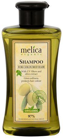 Melica Szampon do włosów farbowanych z filtrami UV i oliwkami wyodrębnić 300 ml