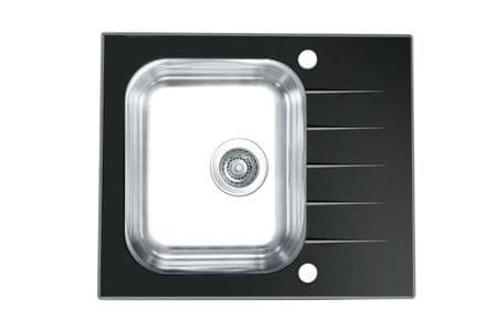 Genesis pomivalno korito Vitro 10, steklo, črno