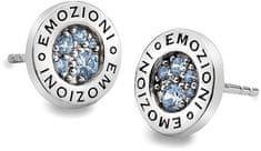 Hot Diamonds Sříbrné náušnice Emozioni Scintilla Blue Peace EE007 stříbro 925/1000