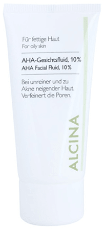 Alcina Pleť AC płynu z 10% kwasów AHA (AHA Facial Fluid, 10%) 50 ml