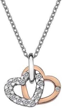 Hot Diamonds Zawieszka Hot Diamonds Valentines biały topaz DP683 srebro 925/1000