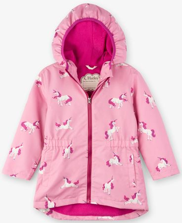 Hatley dívčí nepromokavý kabát 92 růžová
