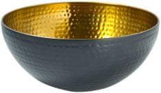 Toro Nerezová miska, průměr 19 cm, černá/zlatá