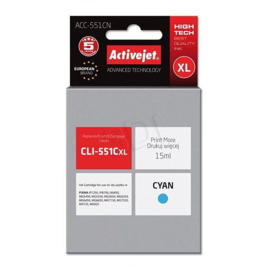 ActiveJet tinta Canon CLI-551CXL, cyan