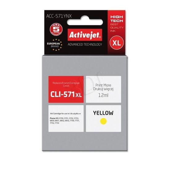 ActiveJet tinta Canon CLI-571Y XL, žuta