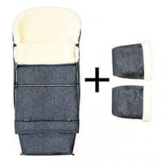 Emitex zestaw zimowy do wózka Romance Combi śpiworek + rękawice